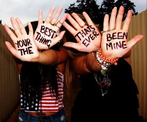 friends, hands, and mine image