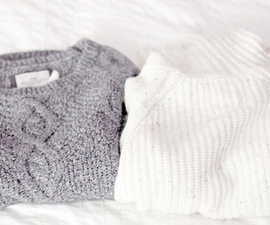 sweater, fashion, and white image