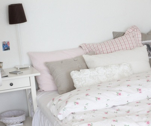 white, room, and bed image