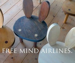 chair and rabbit image