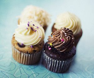 cupcakes, chocolate, and delicious image