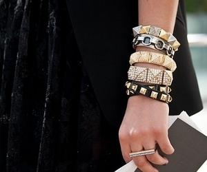 fashion, bracelet, and black image