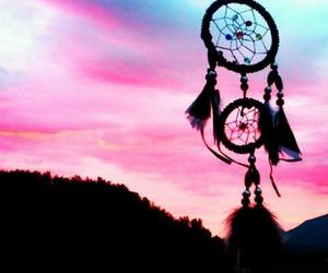 beautiful, pink, and dreamcatcher image