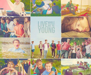 live while we're young and one direction image
