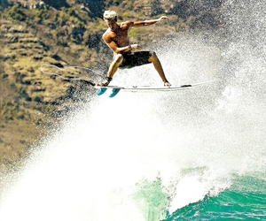 surfing, surf, and waves image