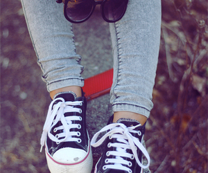 girl, converse, and hipster image