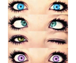 Collage, girl, and eyes image