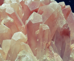 crystal, pink, and mineral image