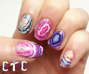 cool, nails, and geode image