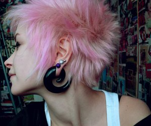 colorful, pretty, and short hair image