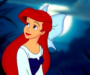 ariel, the little mermaid, and cute image