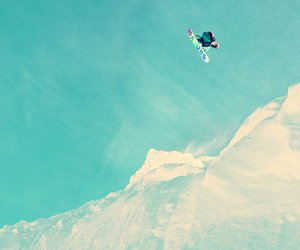 argentina, mountains, and snowboarding image