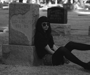 black, girl, and grave image