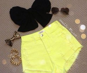 black and yellow, neon, and cute image