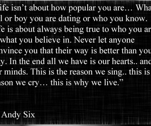 poem, andy sixx, and quotes image
