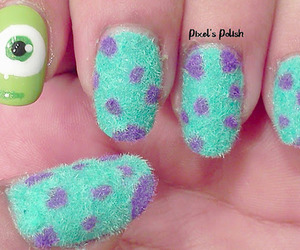 nails, monsters inc, and monster image