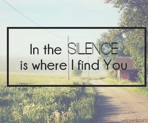 quote, silence, and god image
