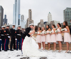 army, couple, and kiss image
