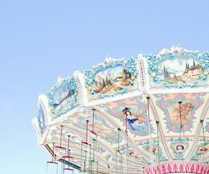 blue, carousel, and fun image