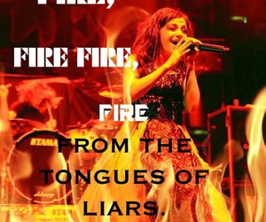 fire, music, and quotes image
