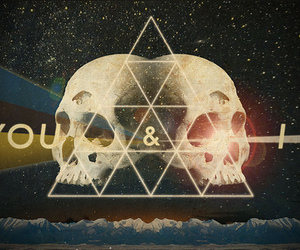 skull, triangle, and hipster image