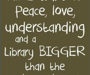 book, love, and peace image