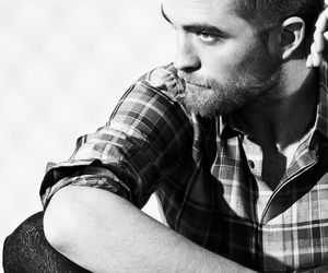black and white, robert pattinson, and sexy image