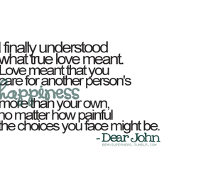 love, quote, and dear john image