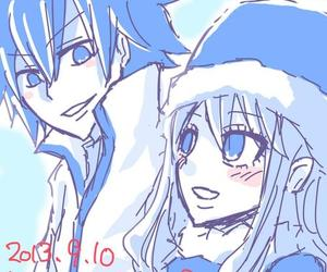 anime, gray fullbuster, and juvia loxar image
