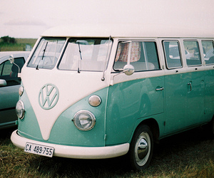 car, vintage, and vans image