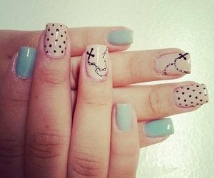 cross, polka dots, and nails image