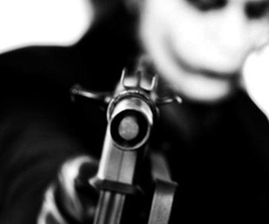 joker and black and white image