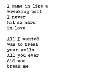 miley cyrus, wrecking ball, and text image
