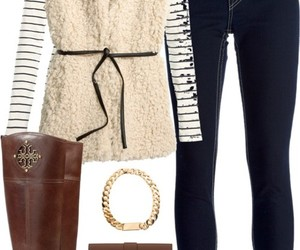stripes, vest, and fall outfit image