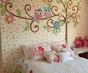 room, owl, and bedroom image