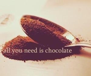 chocolate, food, and need image