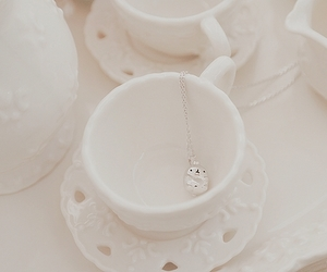 necklace, pretty, and teacup image