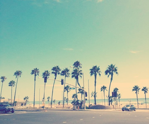 beach, california, and style image