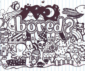 bored and doodle image