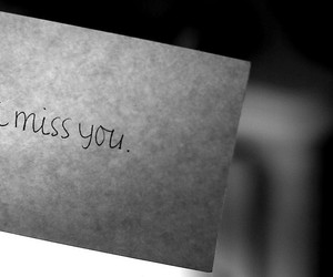 miss you, note, and love image