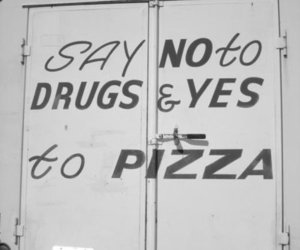 pizza and sign image