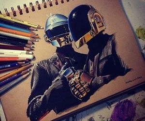 daft punk, music, and art image