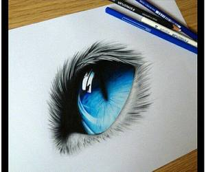 blue, eye, and draw image