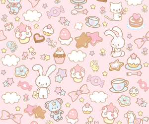 pink, kawaii, and wallpaper image