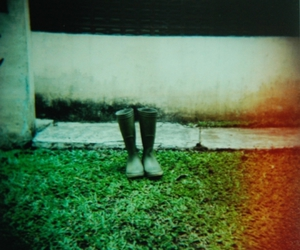 boots, light, and holga image