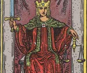 tarot and justice image