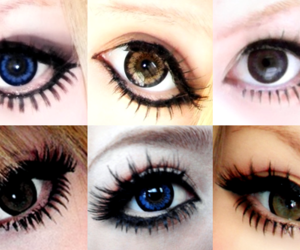 eye makeup, eyeliner, and false eyelashes image