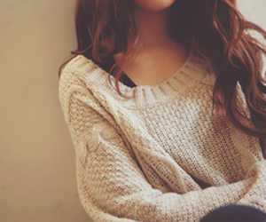 autumn, brown, and jumper image