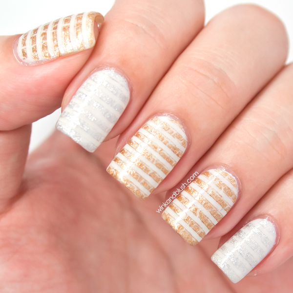 Distressed Stripesquick Nails Wink And Blush