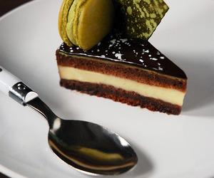 dessert, cake, and chocolate image